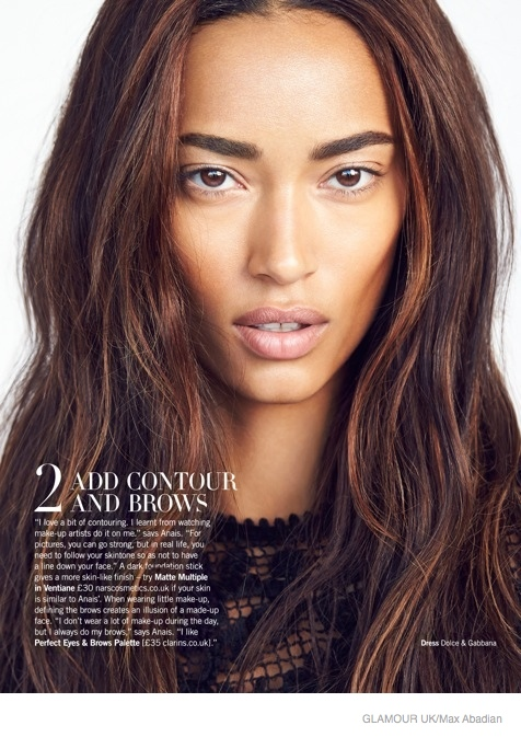 Anais Mali Wears The Bare Makeup Look For Glamour Uk By