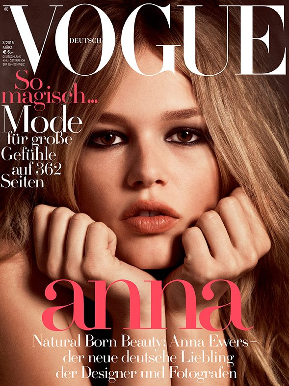 Anna Ewers Channels Brigitte Bardot on Vogue Germany Cover (1 of 3)