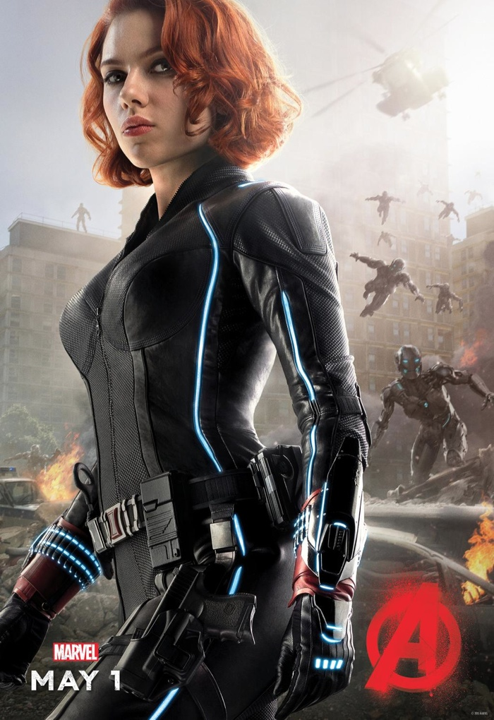 Scarlett Johansson Suits Up as Black Widow for 'Avengers: Age of Ultron' Poster