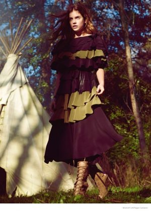 Barbara Palvin Wears 1970s, Hippy Inspired Fashion for Bazaar UK Shoot