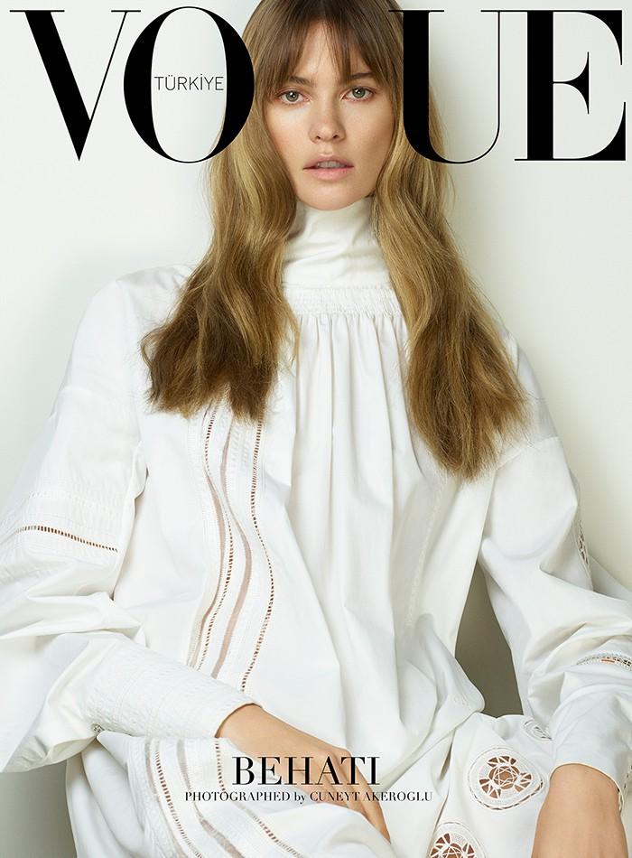 Behati Prinsloo is clothed in Dior on Vogue Turkey