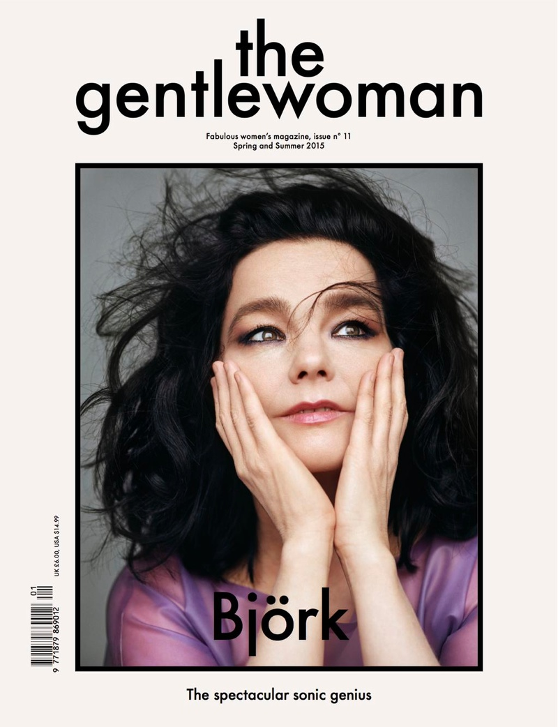 Björk Wears a Pop of Color on The Gentlewoman S/S 2015 Cover
