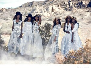 Malaika Firth, Imaan Hammam Pose for Peter Lindbergh in Ethereal Vogue Shoot