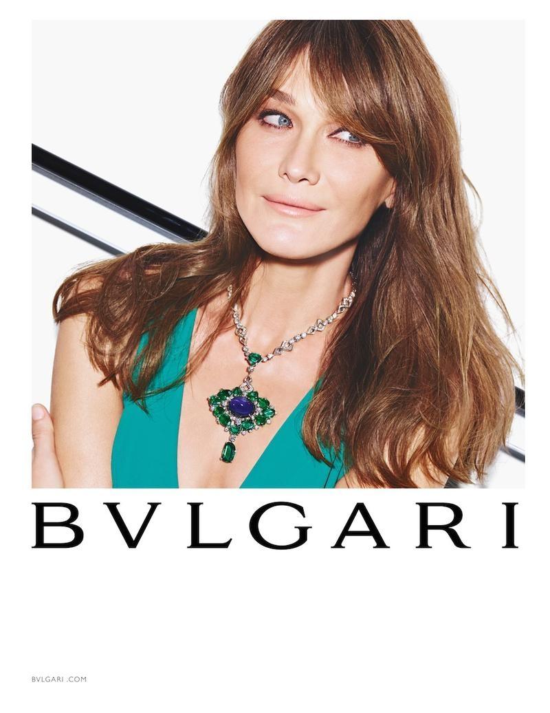 Carla Bruni is All Smiles for Bulgari 'Diva' Spring 2015 Campaign