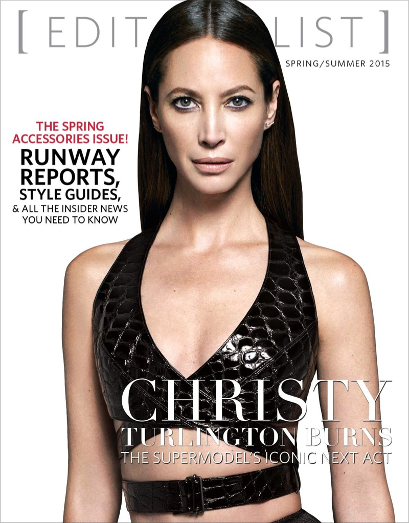 Christy Turlington Wears Sexy Bra Top on Editorialist Cover
