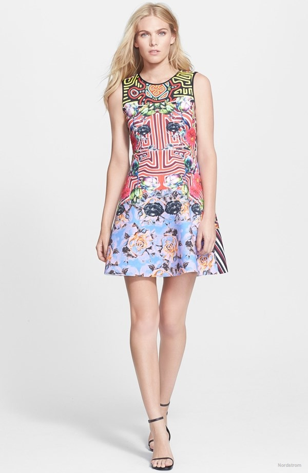 Clover Canyon 'Floral Maze' Print Neoprene Fit & Flare dress available for $282.00