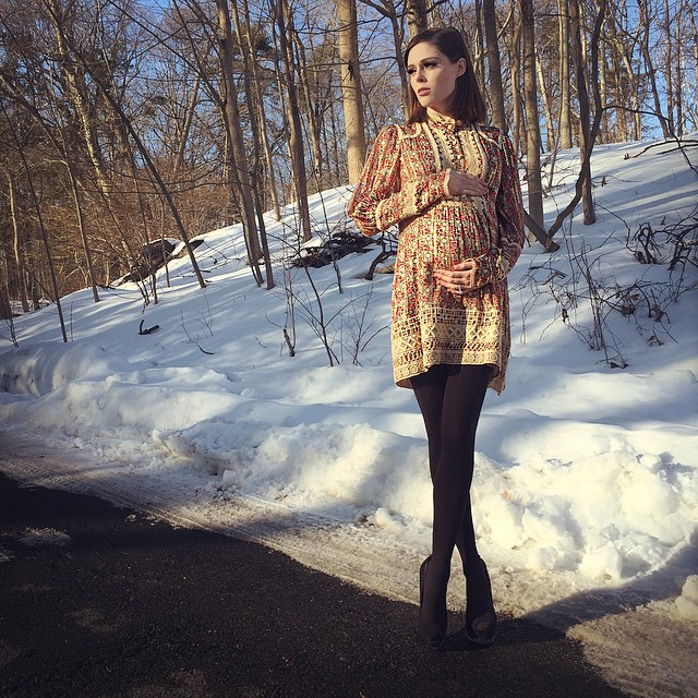 Coco Rocha is owning her maternity style