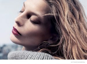 Daria Werbowy Stuns in Winter Makeup Looks for Air France Madame