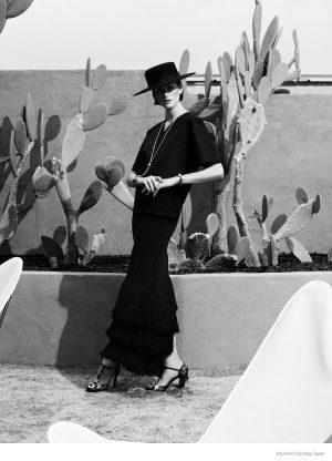 Chic Desert Style: Athena Wilson by Nagi Sakai for Bazaar Germany