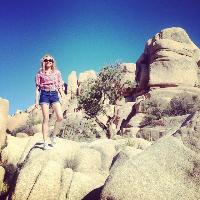 Actress Diane Kruger at Joshua Tree. Image via Instagram.