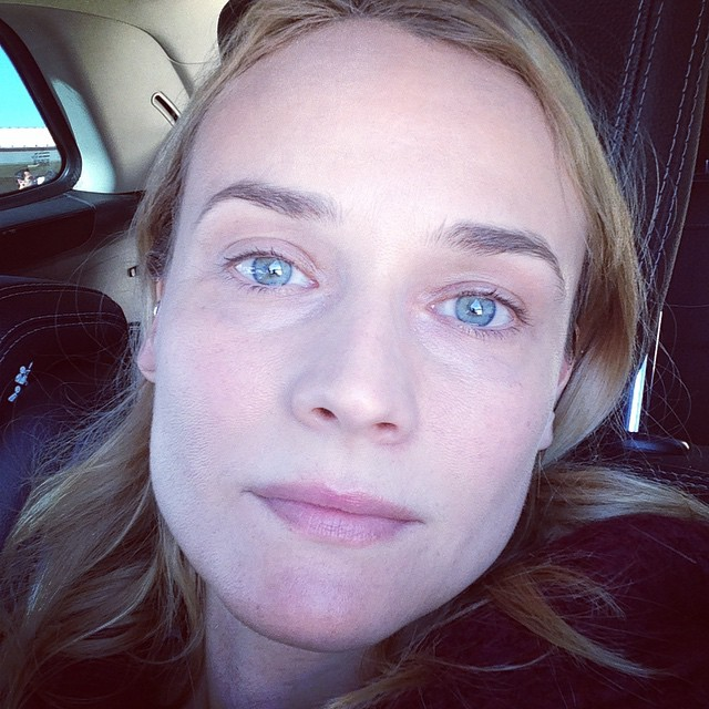 Diane Kruger Posts No Makeup Selfie, Looks Perfect ...