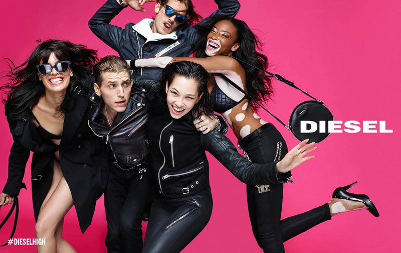 Winnie Harlow stars in Diesel's spring-summer 2015 campaign photographed by Nick Knight