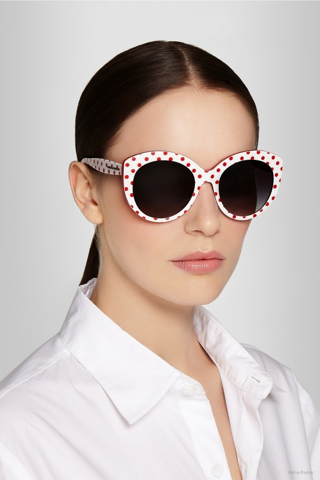 Dolce & Gabbana Polka Dot Cat Eye Sunglasses available for $180.00