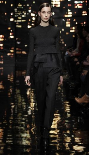Donna Karan Celebrates New York City with Black & Gold Looks for Fall 2015