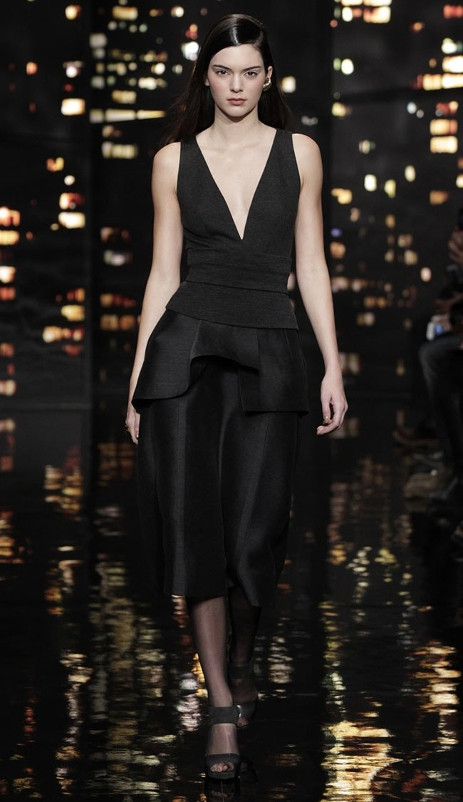 Kendall Jenner at Donna Karan Fall 2015 show earlier this week. Image courtesy.