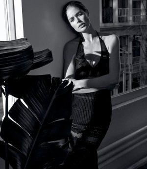 Doutzen Kroes Takes On Sexy and Minimal Fashions for Feature in WSJ