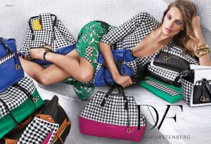 Daria Werbowy Poses in Gingham in DVF's Spring 2015 Campaign