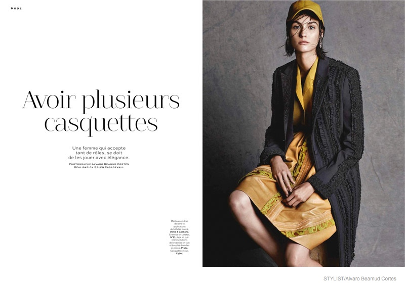 Manon Leloup Wears Baseball Hats in Stylist by Alvaro Beamud Cortes