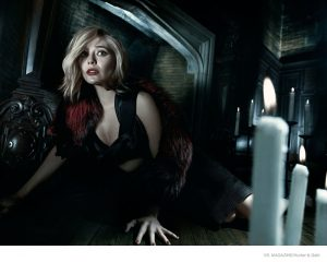 Elizabeth Olsen Plays a 1970s Scream Queen for Vs. by Hunter & Gatti