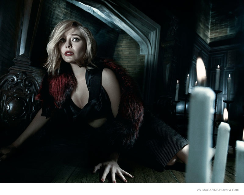 Elizabeth Olsen Plays a 1970s Scream Queen for Vs. by Hunter & Gatti