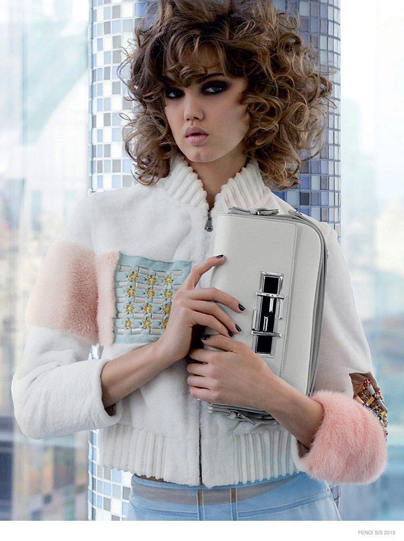 Lindsey Wixson, Binx Walton Front Fendi Spring 2015 Campaign