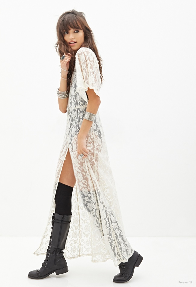 Button Lace Maxi Dress available for $39.90