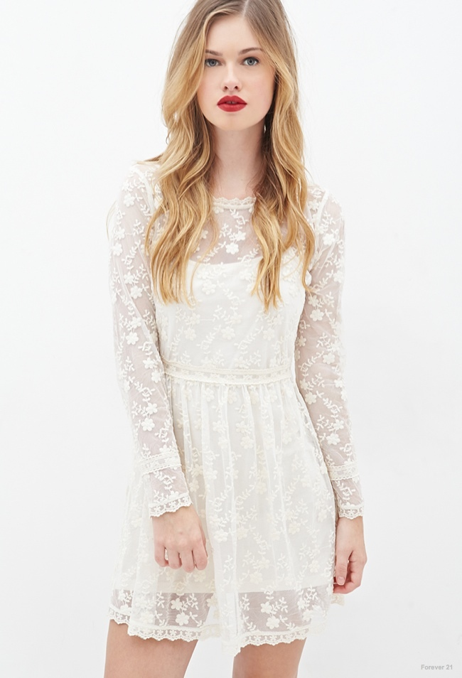 Floral Embroidered Lace Dress available for $34.90