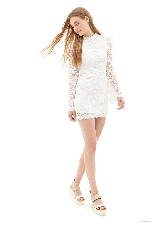 High-Neck Lace Dress available for $22.80