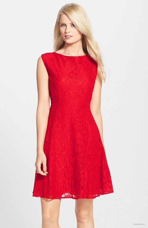 French Connection Lace Fit & Flare Dress available for $106.80