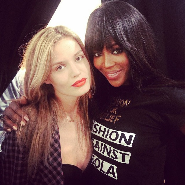 Georgia May Jagger and Naomi Campbell at Naomi's Fashion for Relief event