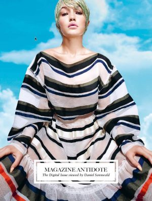 Gigi Hadid, Liu Wen Get Digital for Antidote S/S 2015 Covers