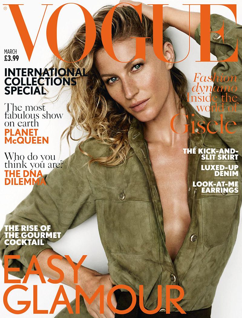 Gisele Bundchen Wears Chanel Army Green on Vogue UK Cover