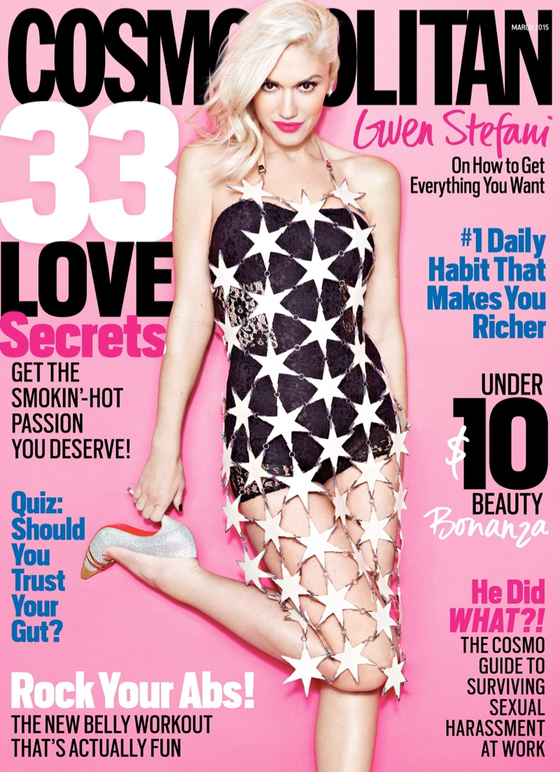 Gwen Stefani Covers Cosmopolitan & Talks Marrying a 'Hot Guy'