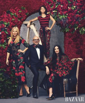 Gwyneth Paltrow, Demi Moore + Nicole Richie Are Floral Beauties in BAZAAR