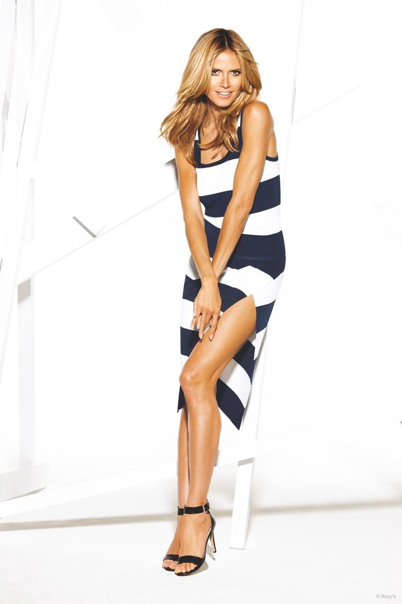 Heidi Klum Flaunts Supermodel Looks for Macy's INC Campaign