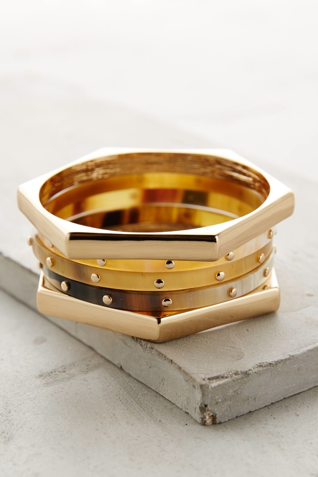 honeycomb-horn-bracelet-set