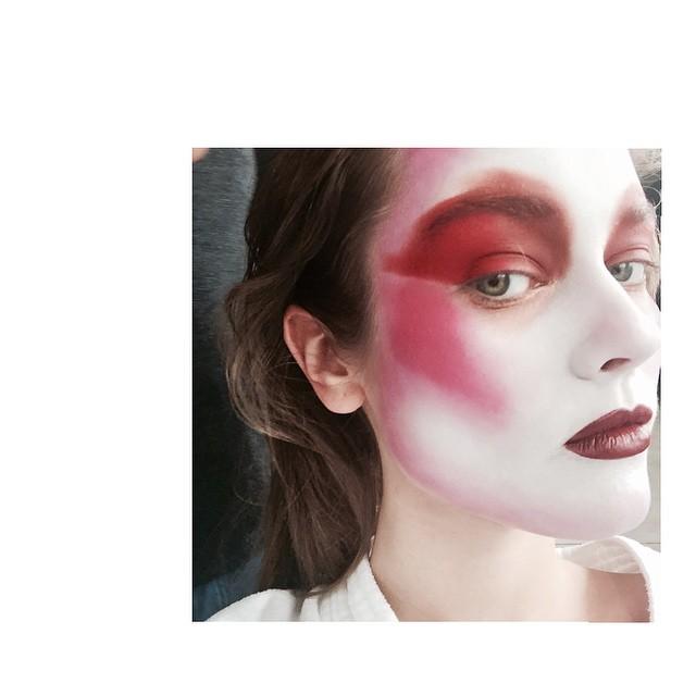 Jac Jagaciak wears a dramatic makeup look
