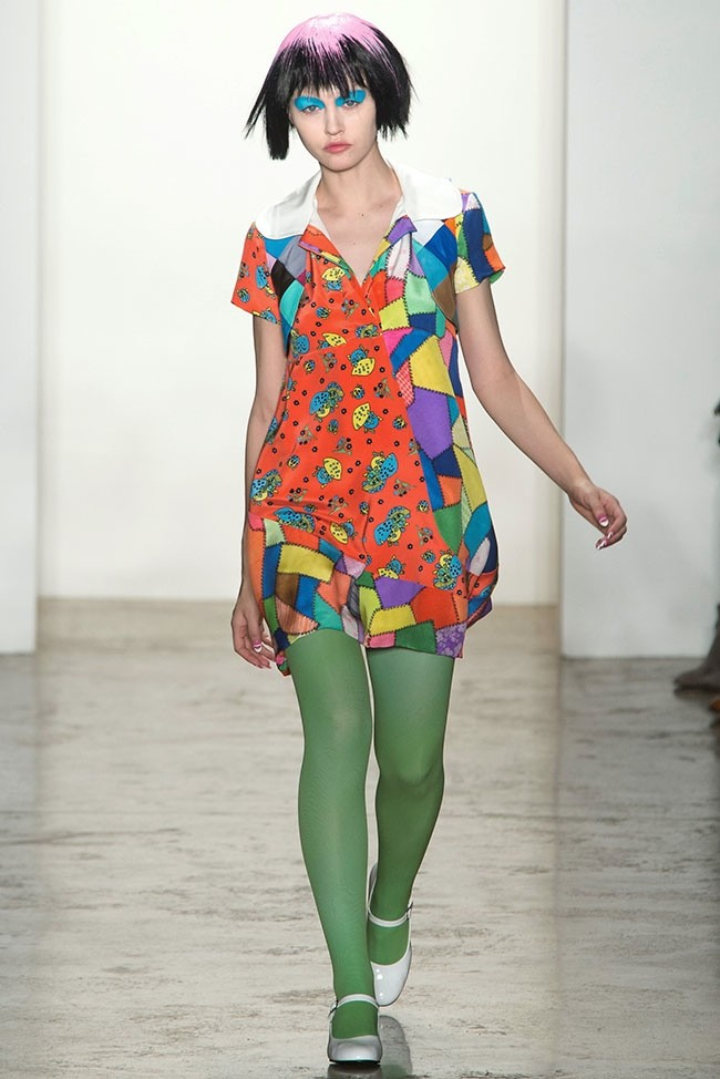 Jeremy Scott Does Colorful, Baby Doll Fashion for Fall 2015