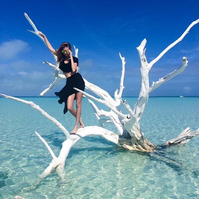 Josephine Skriver takes a beautiful shot at sea