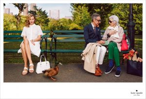 Karlie Kloss, Iris Apfel Pose in the Park for Kate Spade's Spring 2015 Ads