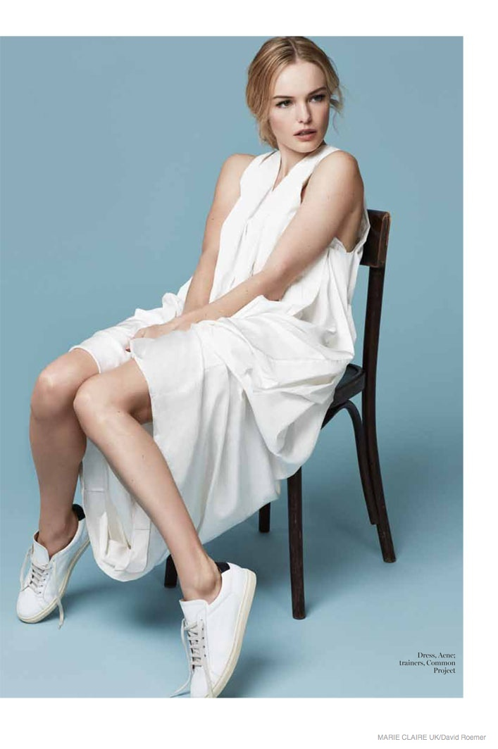 Kate Bosworth Takes on Minimal Style for Marie Claire UK Shoot