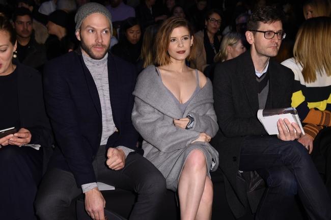 Kate Mara sits front row at the fall-winter 2015 Max Mara show. Photo: courtesy Max Mara