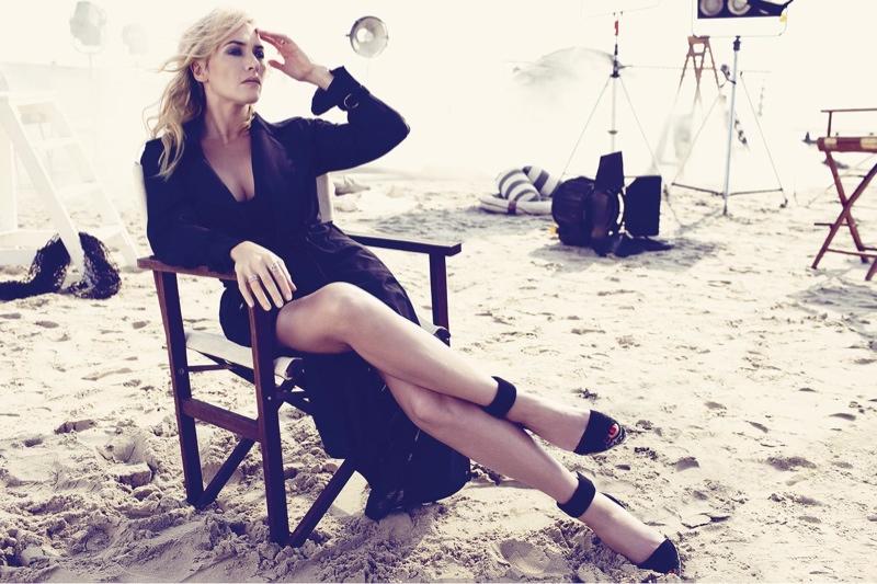 Kate Winslet Covers Harper's Bazaar UK & Talks Not Regretting Her Divorces