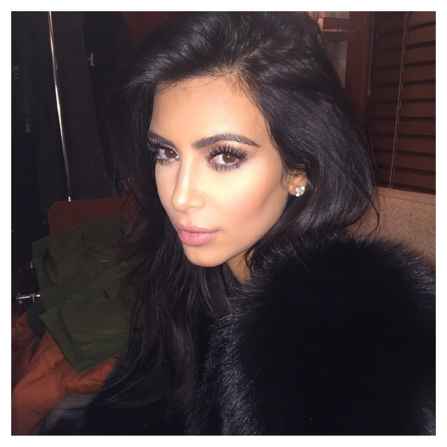 BEFORE: Kim Kardashian with longer tresses
