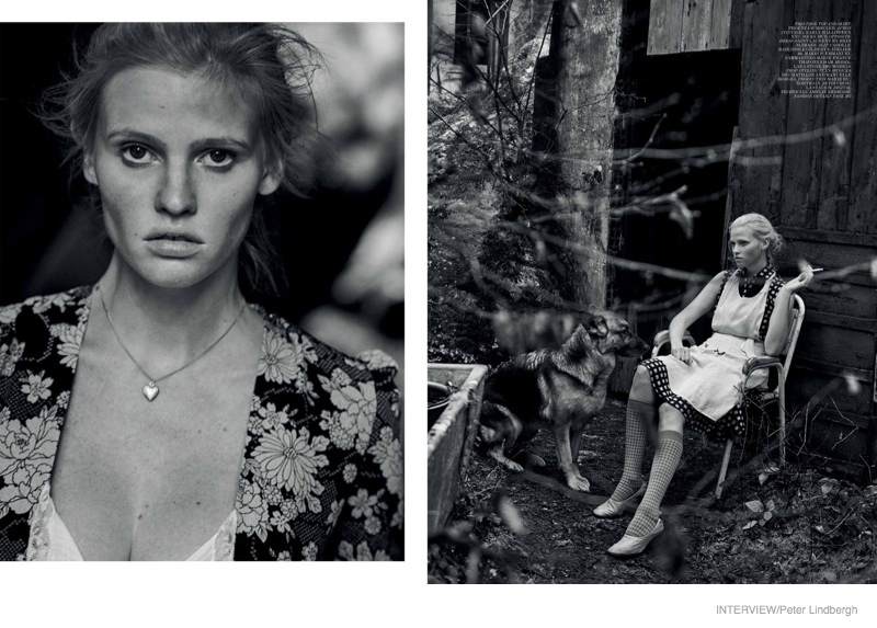 Lara Stone Lives the Simple Life in Interview Shoot by Peter Lindbergh