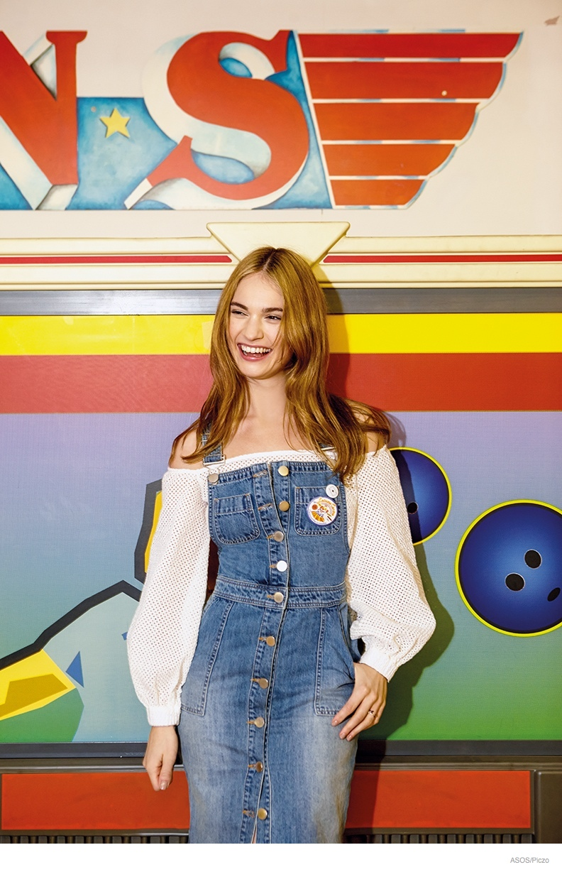 'Cinderella' Star Lily James Dons Denim Style for ASOS Magazine