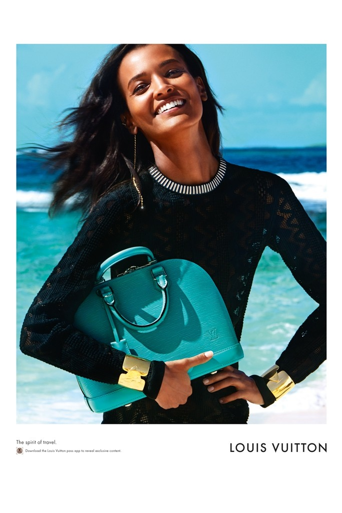 Liya Kebede is all smiles in Louis Vuitton campaign image.