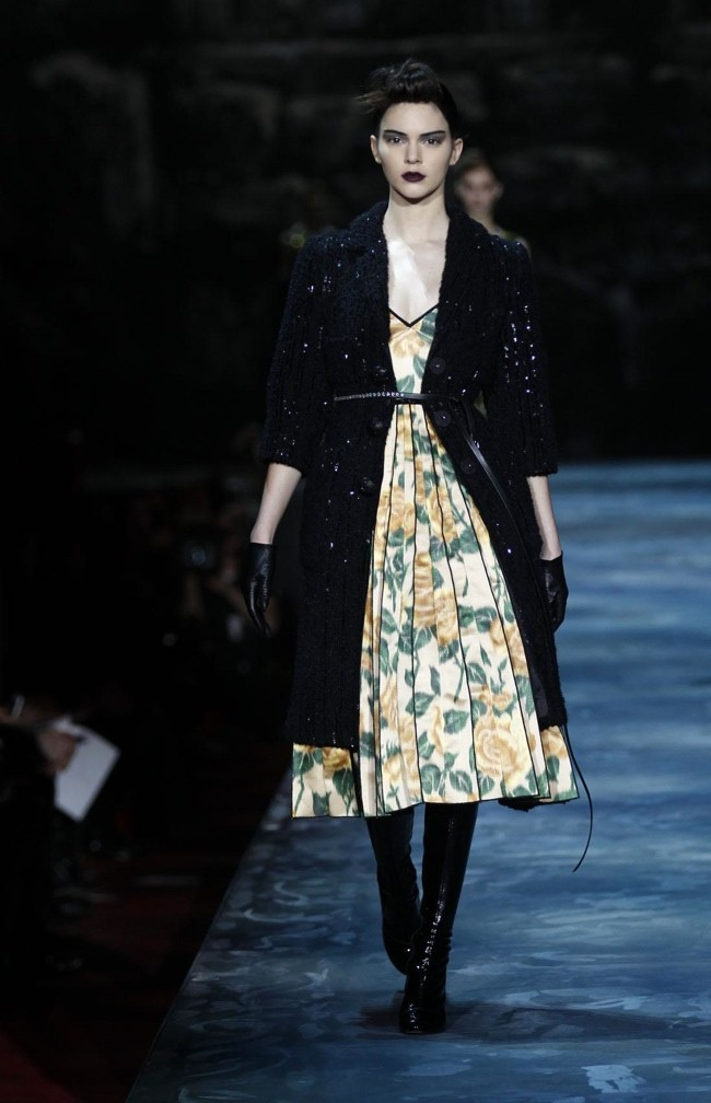 Kendall Jenner walks the runway at Marc Jacobs' fall-winter 2015 show