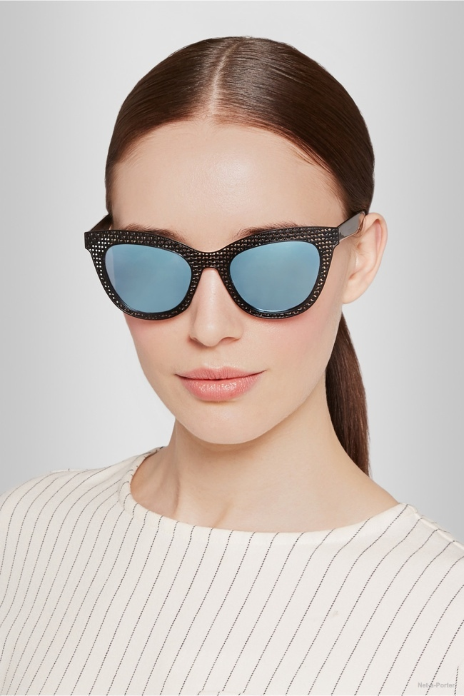 Marc by Marc Jacobs Mirrored Cat Eye Sunglasses available for $150.00