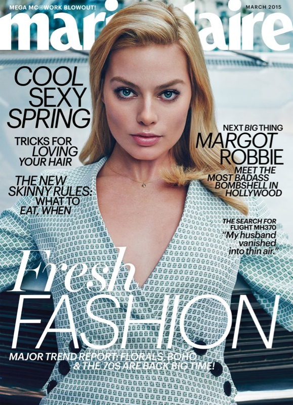 Margot Robbie Covers Marie Claire & Says She Looks Like a 'Toothpaste Model'